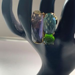 Colorful Faceted Bold Statement Ring Adjustable